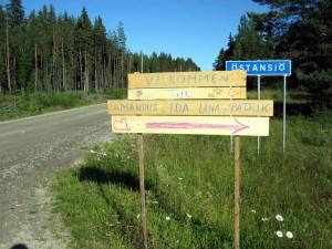 Vägvisare på Östansjö för deltagarna
